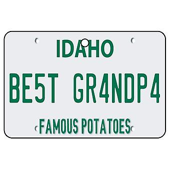Idaho - Best Grandpa License Plate Car Air Freshener