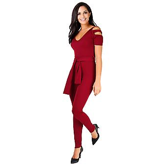 KRISP Cut Out Shoulder Jumpsuit