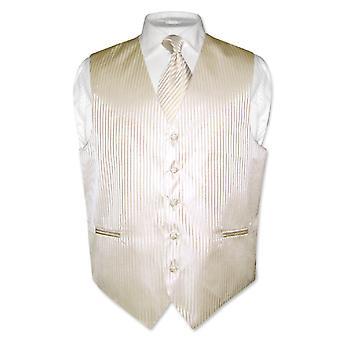 Gilet robe masculine & cravate Vertical Design rayé col cravate ensemble