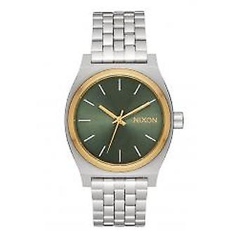 Nixon The Medium Time Teller Silver / Gold / Agave (A1130-2877)