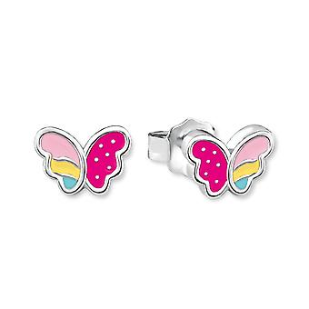 Princess Lillifee children earrings silver Butterfly colorful 2020969