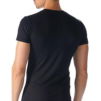 Mey 42503-123 Men's Software Black Solid Colour Short Sleeve Top