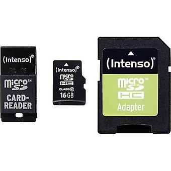 microSDHC card 16 GB Intenso Adapter Set Class 10