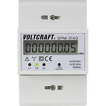 VOLTCRAFT DPM-314D Electricity meter (3-phase) Digital 100 A MID-approved: No