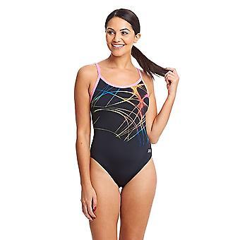 ZOGGS mujeres llama Sprintback traje de baño - negro/Multi