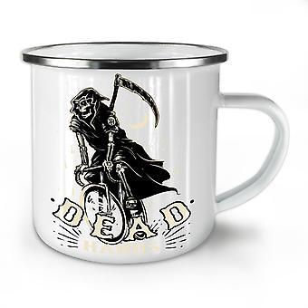 Grim Reaper Dead Skull NEW WhiteTea Coffee Enamel Mug10 oz   Wellcoda