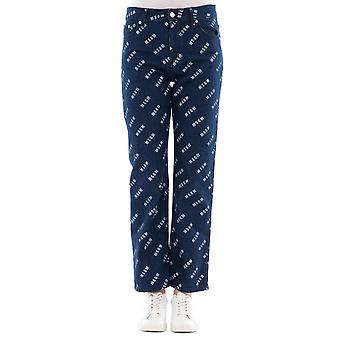 Msgm women's 2441MDP44LX18429089 blue cotton trousers