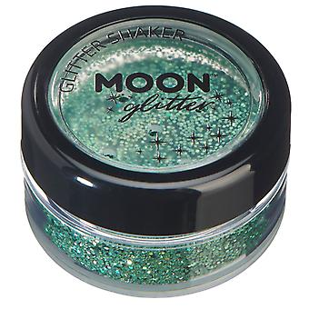 Holographic Glitter Shakers by Moon Glitter – 100% Cosmetic Glitter for Face, Body, Nails, Hair and Lips - 5g - Green