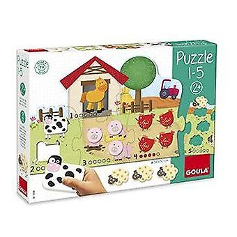 Diset Puzzle 1 to 5 (Babies and Children , Toys , Preschool , Puzzles And Blocs)