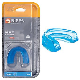 Shock Doctor Blue Adult Braces Mouthguard