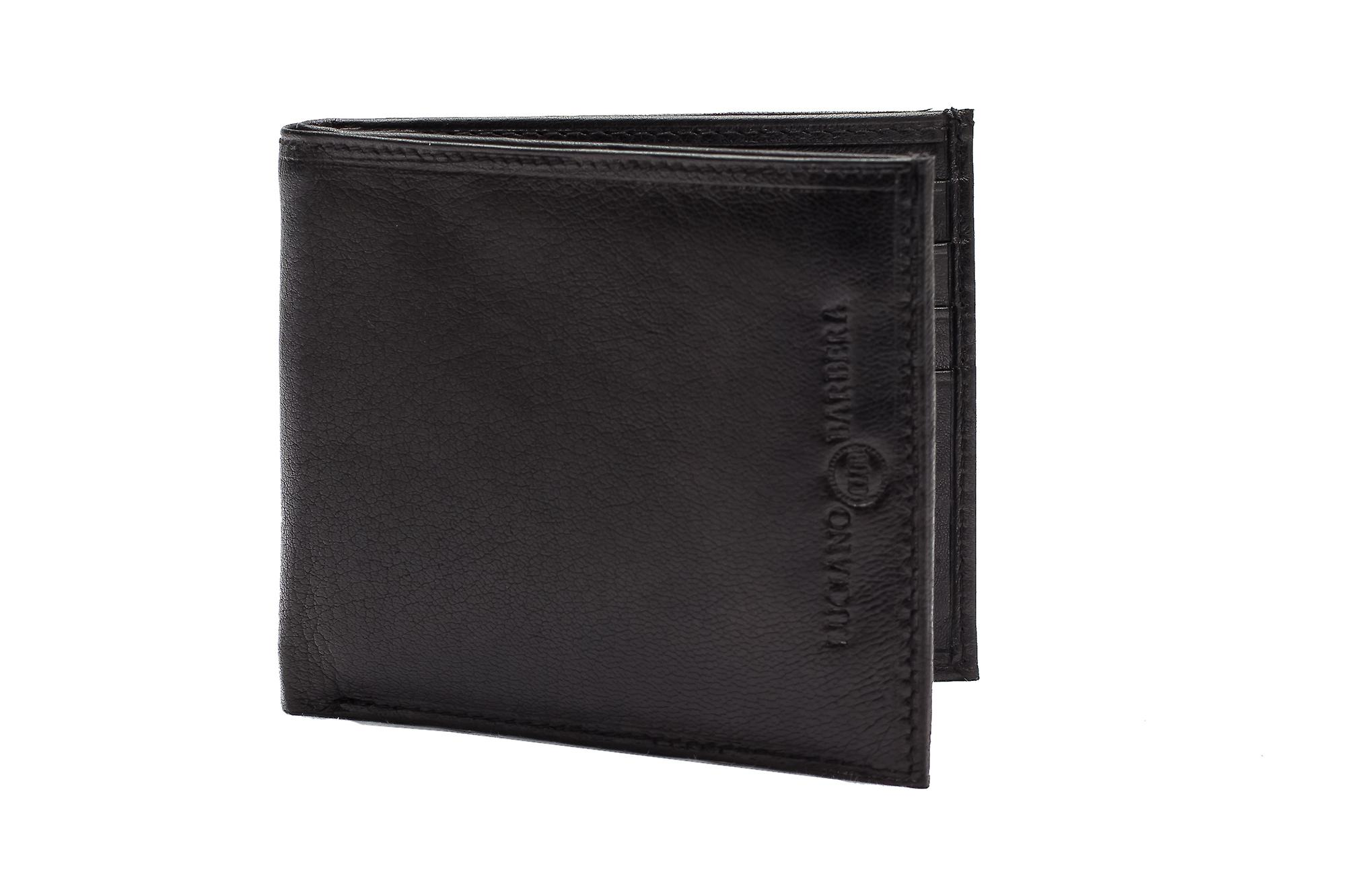 Luciano Barbera Club Leather Wallet Black