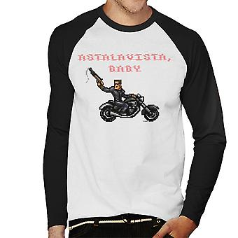 Terminator T1 Astalavista Baby Herren Baseball T-Shirt Langarm