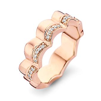 Orphelia Silver 925 Double Ring Rosegold With  Zirconium   ZR-7127/RG