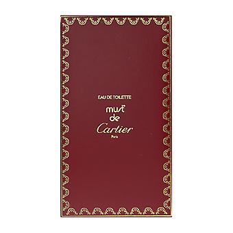 Cartier Must De Cartier Eau De Toilette 3.3Oz/100ml Sealed Witho Out Box