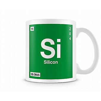 Element Symbol 014 Si -Silicon Printed Mug