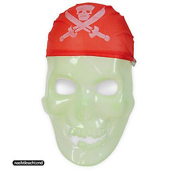 Pirate mask noctilucent Totenkopf skull half mask ghost pirate