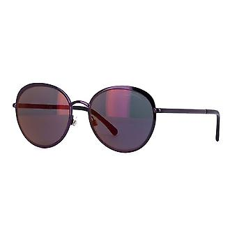 Chanel Chanel Ex-Display Ladies Deep Purple Round Sunglasses With Burgundy Tinted Lenses