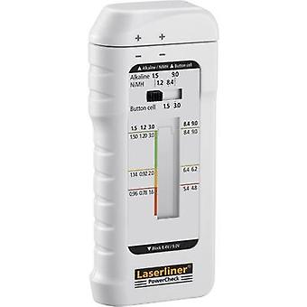 Laserliner Battery tester PowerCheck Reading range (battery testers) 1.2 V, 1.5 V, 3 V, 9 V Rechargeable, Battery 083.006A