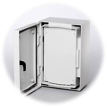 Fibox 8274030 FP 4030-D placa frontal plástico cerrado (L x W) 379 mm x 262 mm gris-blanco (RAL 7035)