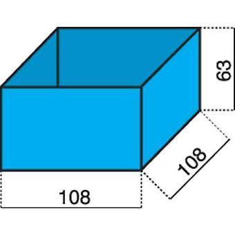 Alutec Assortment case insert (L x W x H) 108 x 108 x 63 mm No. of compartments: 1