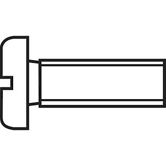 TOOLCRAFT 888696 Allen screws M6 10 mm Slot DIN 84 Steel zinc plated 1 pc(s)
