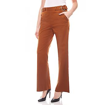 Tamaris elegant ladies trousers with Brown details