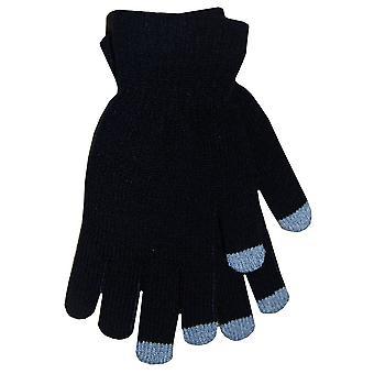 Pantalla Boss Tech guantes (negro con puntas gris) - BTP-GLV-negro