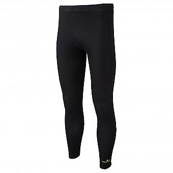 Stride Winter Shield Mens Breathable Winter Running Tights Black/Fluo Yellow
