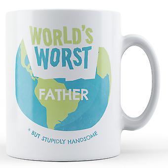 Weltweit schlimmsten Vater - bedruckte Becher