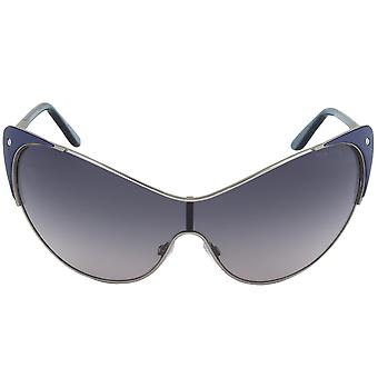 Tom Ford Vanda Cateye Sunglasses FT0364 89W | Gunmetal and Indigo Frame | Grey Gradient Lens