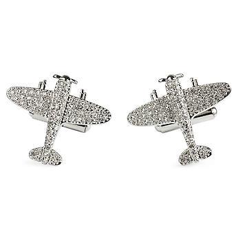 Simon Carter Silver Jubilee Spitfire Cufflinks - Silver