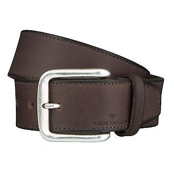 TOM TAILOR belt leather belts men's belts jeans belt Brown 4362