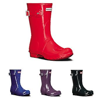 Womens Hunter Original kort Gloss snö gummi Wellington Vattentät Boot UK 3-9