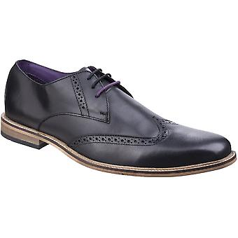 Lambretta Mens Franky Brogue King Lace Up Brogue Oxford Smart Shoes