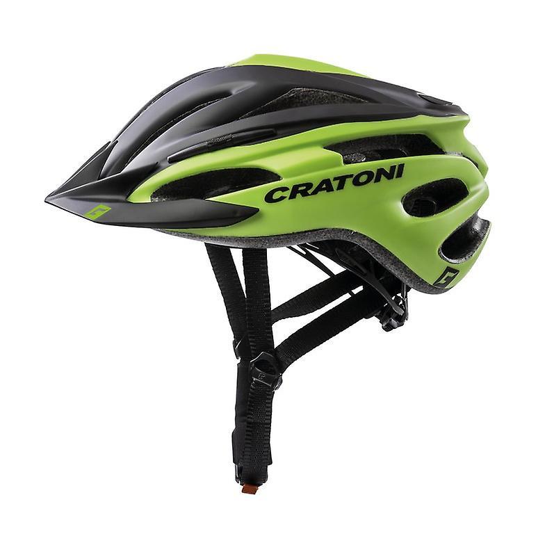 Casque de vélo CRATONI PACER     mat noir citron vert