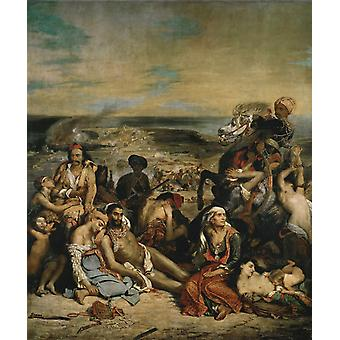 Scenes of the Massacres of Scio, Eugene Delacroix, 60x50cm