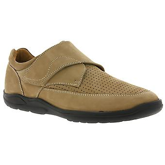 MANZ classic mens leather slippers beige