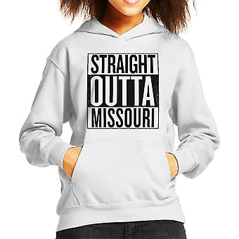 Zwarte tekst Straight Outta Missouri ons stelt Kid's Hooded Sweatshirt