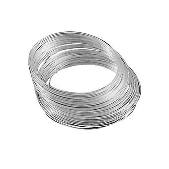 20 x Silver Steel Round Memory Wire Loops 1.0mm x 11.5cm Necklace HA12375