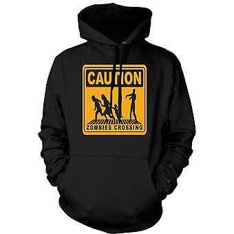Kids Hoodie - Caution Zombies Crossing - Lustiges