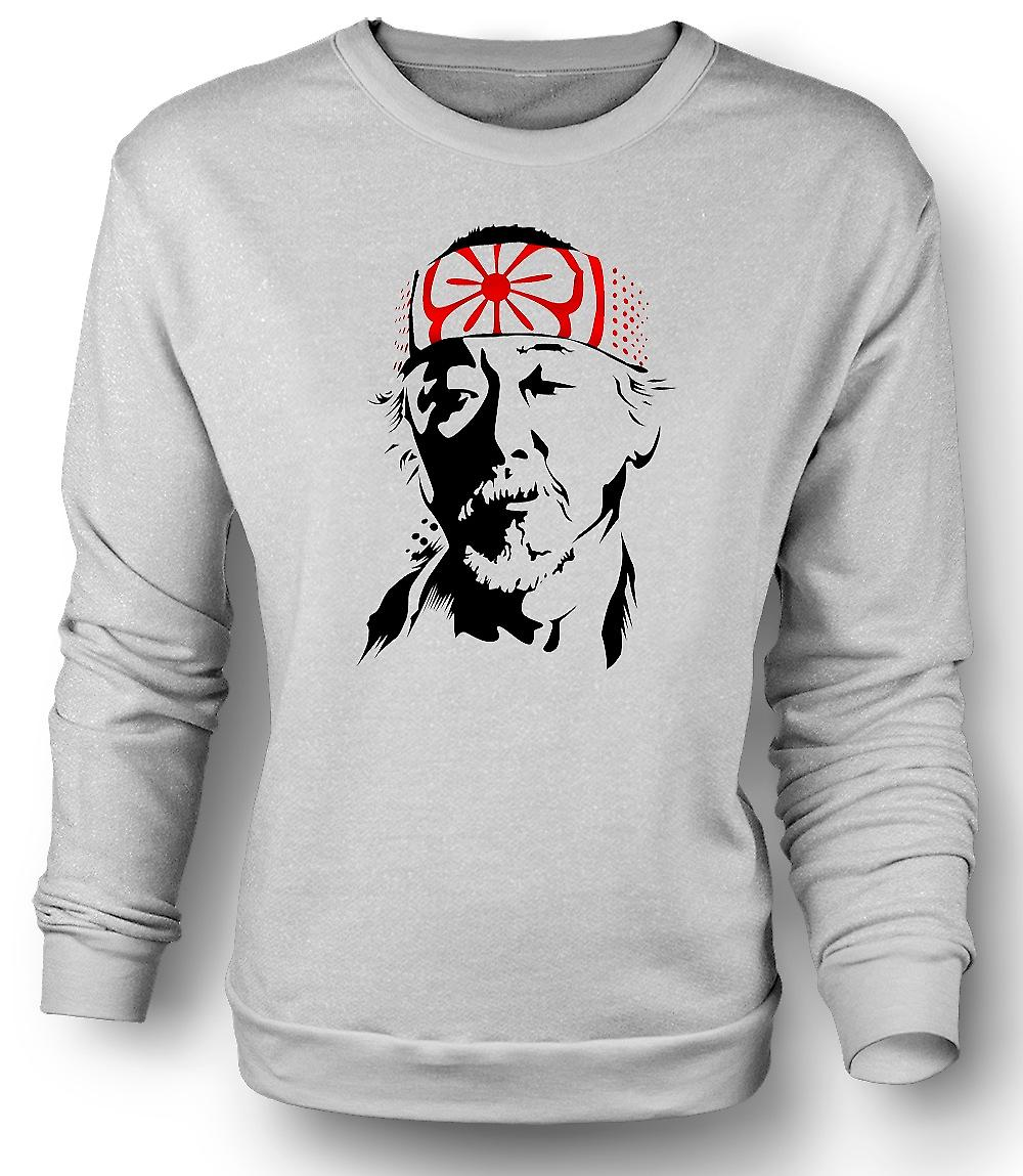 Mens Sweatshirt Karate Kid Mr Miyagi - Portrait