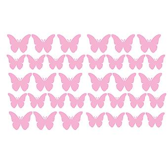 Pack Of 35 Vinyl Butterfly Butterflies Stickers
