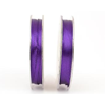 10mm Rich Purple Polyester Satin Craft Ribbon - 10m | Ribbons & Bows for Crafts