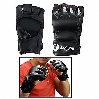 BodyRip Leather MMA Boxing Punching Fight Gloves with Claws