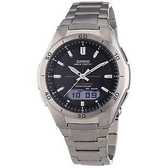 Casio analog-digital Watch quartz men's titanium strap WVA-M640TD-1AER