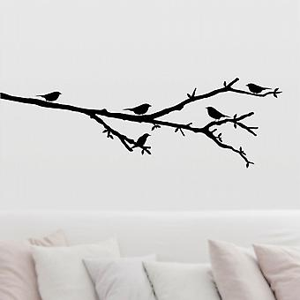 Wall art sticker - Birds on a branch