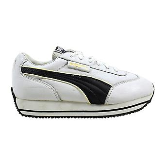 Puma Street Cat Jr White/Titanium 245180 01 Grade-School