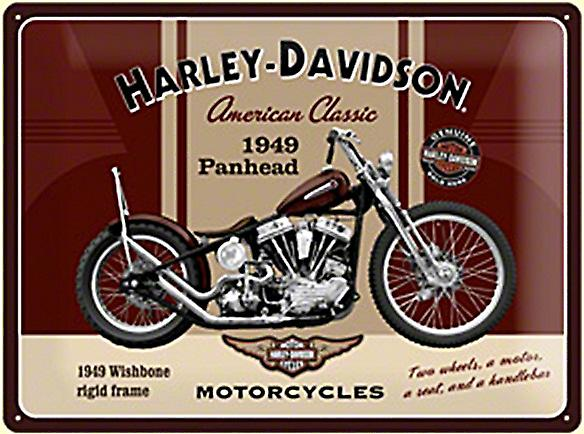 Harley Davidson Panhead large embossed steel sign  (na 3040)