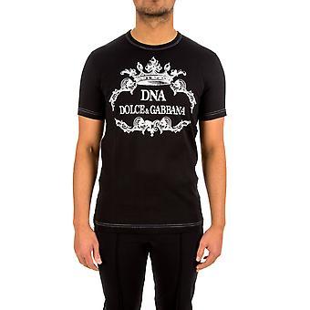Dolce E Gabbana Black Cotton T-shirt
