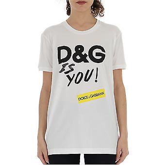 Dolce E Gabbana White Cotton T-shirt